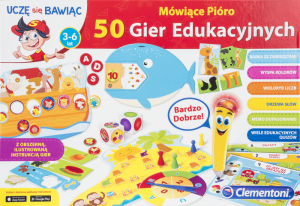 Clementoni Mówiące pióro - 50 gier edukacyjnych