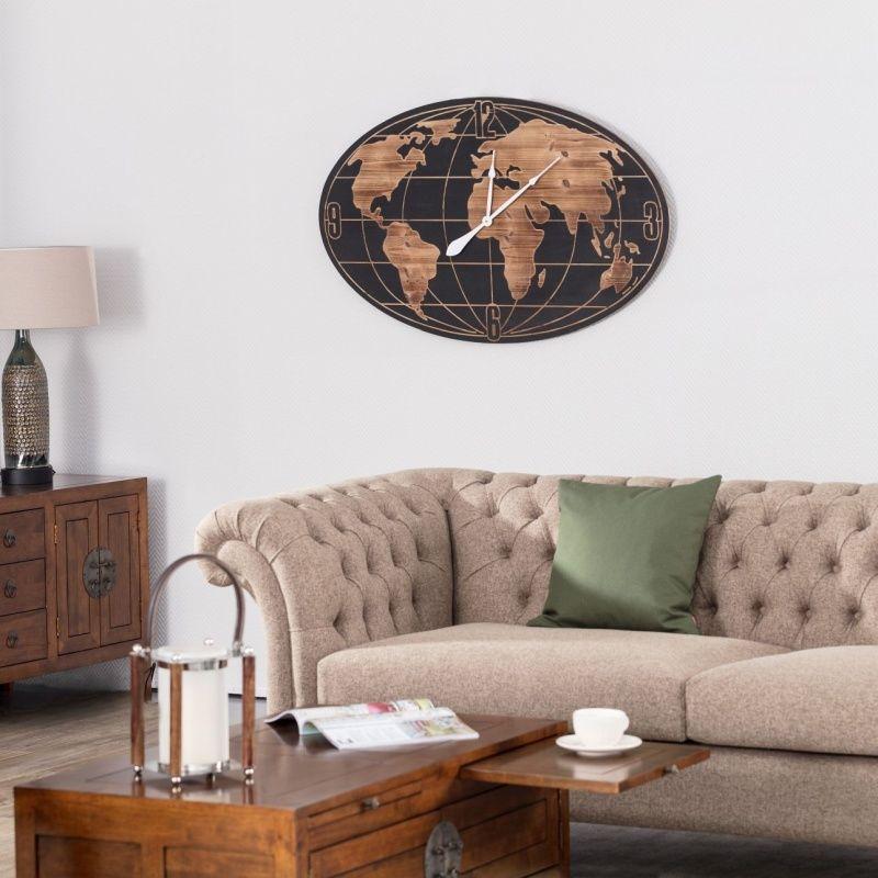 Zegar ścienny World Map