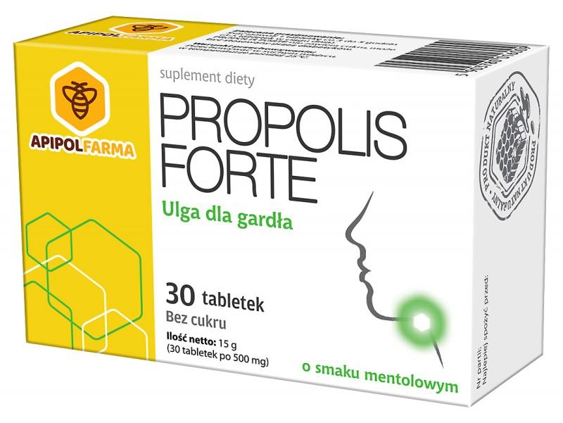 PROPOLIS-FORTE 30 tab-mentol-kartonik-3D 2018